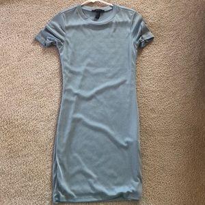 Simple short sleeve blue dress